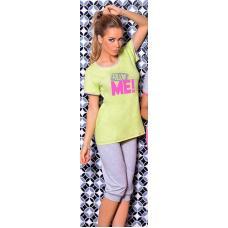 Eline pyjama met broek groen
