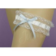 Saint Tropez kousenband wit